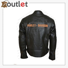 Load image into Gallery viewer, Bill Goldberg Black Harley Davidson Motorcycle Leather Jacket - Leather Outlet