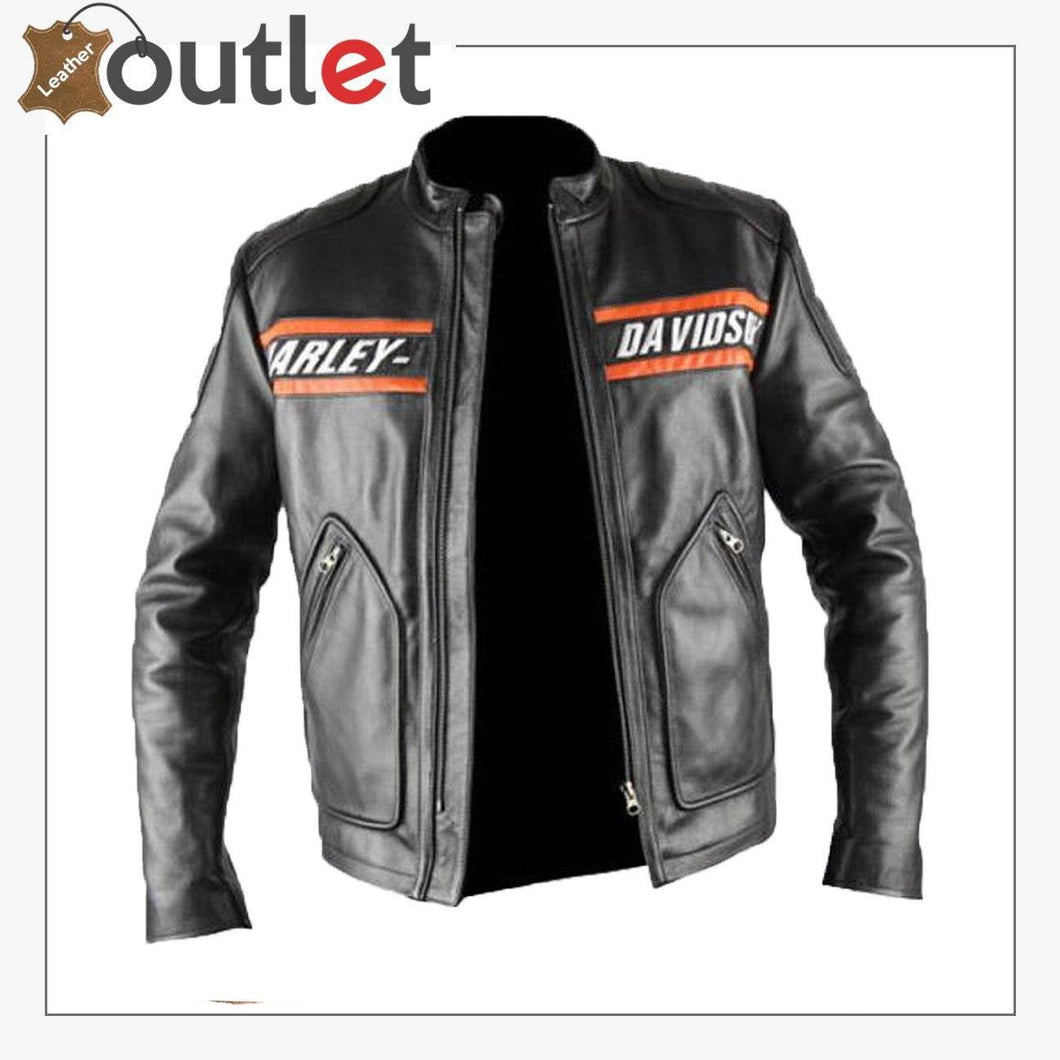 Bill Goldberg wwe Harley Davidson Classic Motorcycle Leather Jacket