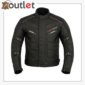 Black 6 Packs Design Motorcycle Jacket
