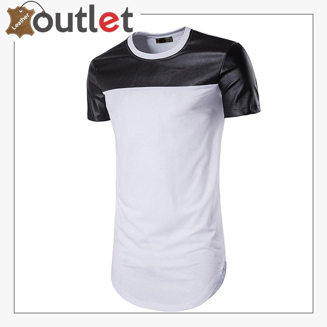Black And White Leather Shirt For Women