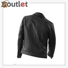 Load image into Gallery viewer, Black Biker Bomber Style Leather Jacket