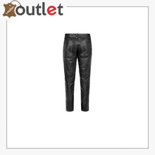 Load image into Gallery viewer, BLACK LACE-UP LEATHER PANTS