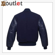 Load image into Gallery viewer, Black Letterman Varsity Jackets Genuine Leather