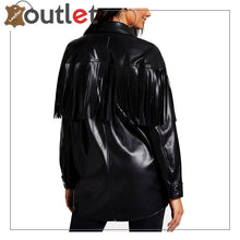 Load image into Gallery viewer, Black Real Quality Womens Leather Shirt
