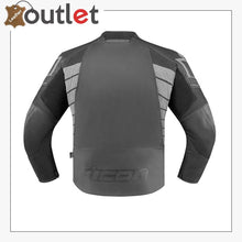 Load image into Gallery viewer, Black Real Quality Icon Motorcycle Leather Jacket