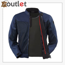 Load image into Gallery viewer, Blue Stylish Motorcycle Textile Jacket