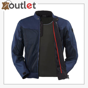 Blue Stylish Motorcycle Textile Jacket
