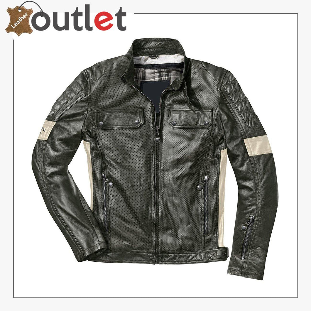 Brooklyn High Quality Motorcycle Leather Jacket