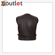 Load image into Gallery viewer, Cowboy Brown Fringes Leather Vest