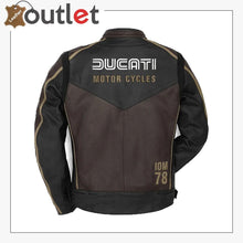 Load image into Gallery viewer, Brown Ducati IOM 78 number Racing jacket