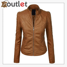 Load image into Gallery viewer, Brown High Light Leather Fashion Jacket