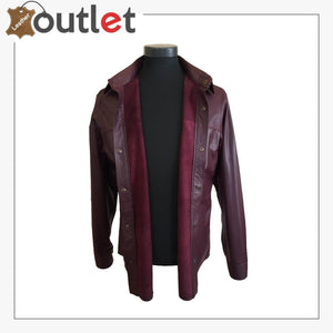Men's Custom Size Genuine Lamb Leather Shirt