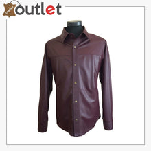 Load image into Gallery viewer, Men's Custom Size Genuine Lamb Leather Shirt