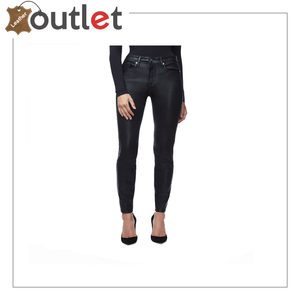 00s Leather Pants Black Leather