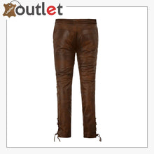 Load image into Gallery viewer, Cowboy Lace Up Leather Pants