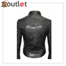 Load image into Gallery viewer,  Men's Genuine Lambskin Leather Shirt, Unisex Shirt, Leather