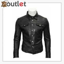 Load image into Gallery viewer, Custom Made Casual Gents Black Adjustable Collar Casual Shirt