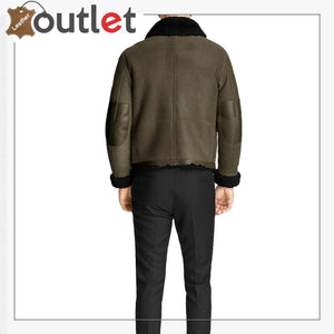 Shearling Sheepskin Leather Bomber Jacket