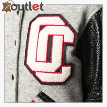 Load image into Gallery viewer, Contrasting Sleeves Cropped Varsity Jacket