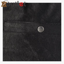 Load image into Gallery viewer, Cropped Womens Leather Trackpants Trouser