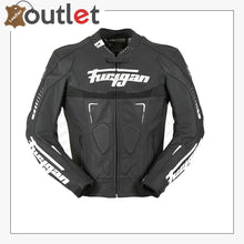 Load image into Gallery viewer, Custom Black And White Racing Motorcycle Jacket - Leather Outlet