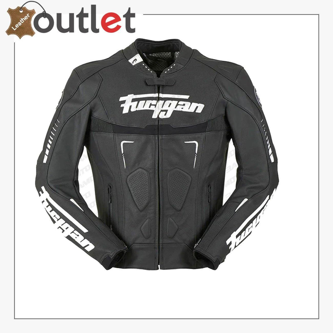 Custom Black And White Racing Motorcycle Jacket - Leather Outlet