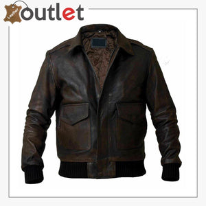 Distressed Brown Handmade Leather Jacket For Men