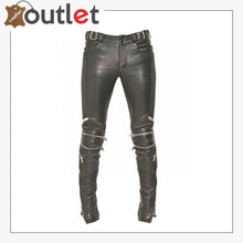 Load image into Gallery viewer, Electric Zipper Mono Leather Pants