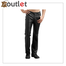 Load image into Gallery viewer, Black Jim Morrison Leather Pants
