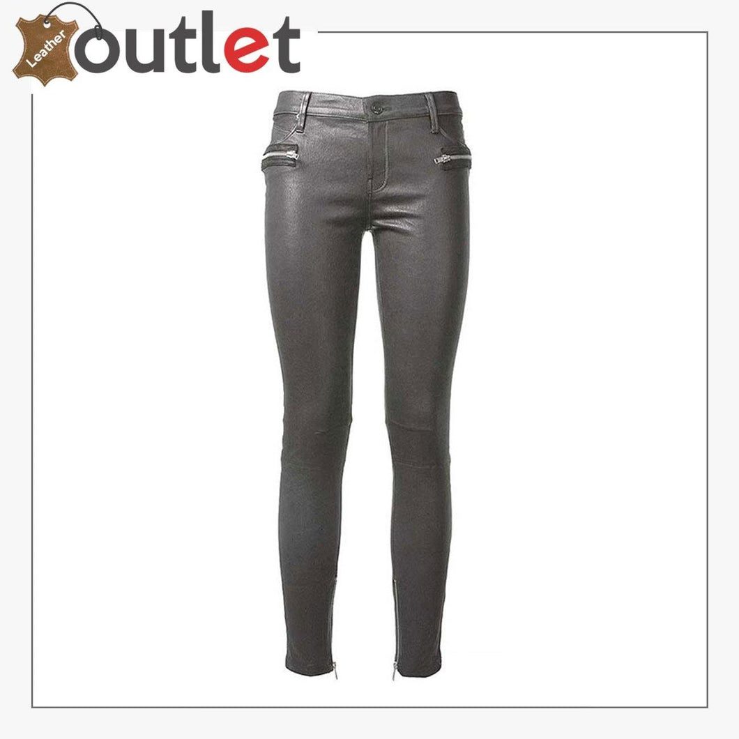 Freedom Slim Fit Motorbike Leather Pants