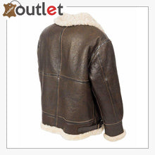 Load image into Gallery viewer, Flight B3 Aviator Bomber Leather Brown Jacket