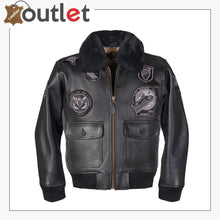 Load image into Gallery viewer, G-1 Wings of Gold Leather Bomber Jacket