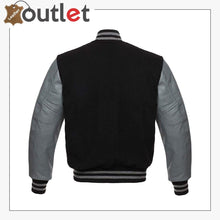 Load image into Gallery viewer, Genuine Leather Varsity Jacket For Men