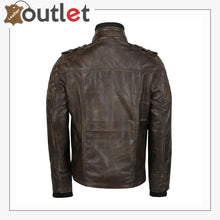 Load image into Gallery viewer, Classic Style Genuine Mens Motorcycle Leather Ridding Jacket - Leather Outlet