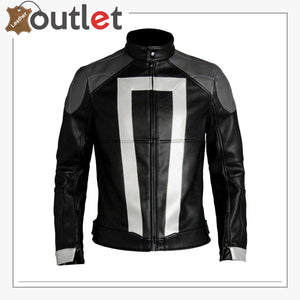 Ghost Rider Costume Cosplay Jacket Artificial Leather Jacket Mens