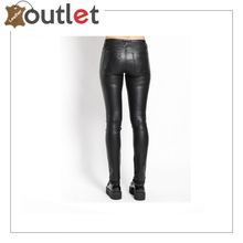Load image into Gallery viewer, Women's Chick PU Leather Sexy Skinny Pants, Black