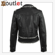 Load image into Gallery viewer, Handcrafted Studded Leather Jacket For Women