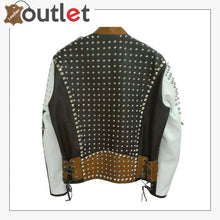 Load image into Gallery viewer, Handmade Real Leather Studded jacketHandmade Real Leather Studded jacket