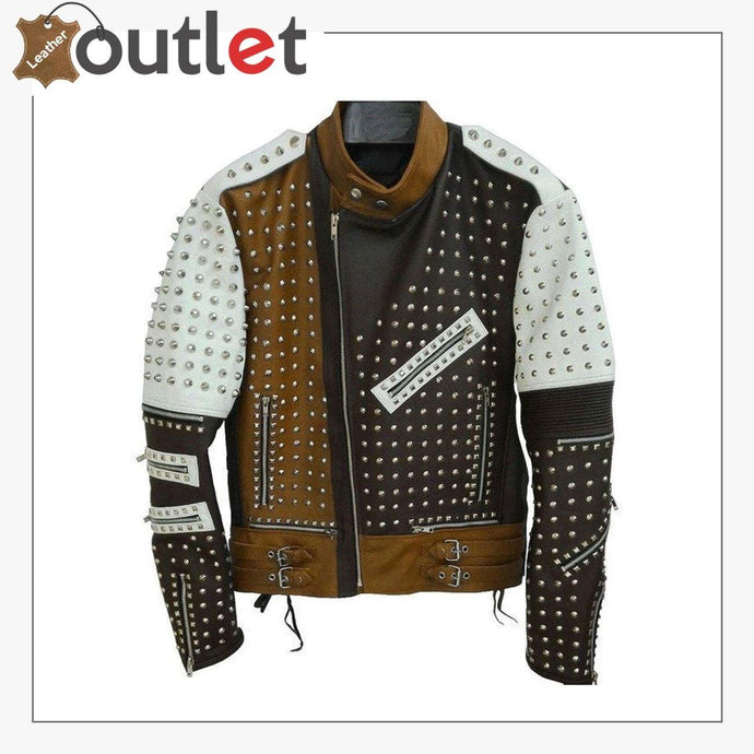 Handmade Real Leather Studded jacket
