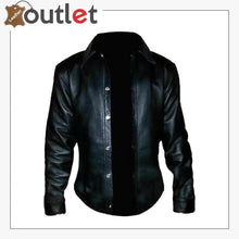 Load image into Gallery viewer, Handmade Sheepskin Leather Black shirt for men