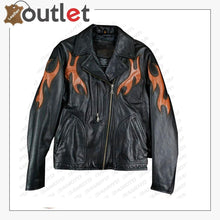 Load image into Gallery viewer, Harley Davidson Biker Leather Jacket Black Womens