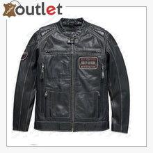 Load image into Gallery viewer, Harley Davidson Cowhide Black leather Jacket