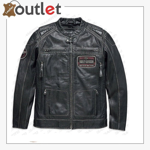 Harley Davidson Cowhide Black leather Jacket