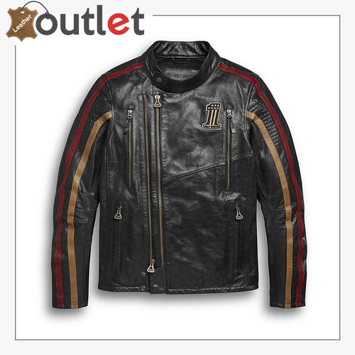 Harley-Davidson Men's Arterial Leather Riding Jacket