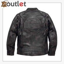 Load image into Gallery viewer, Harley-Davidson Men's Dauntless Convertible Leather Jacket