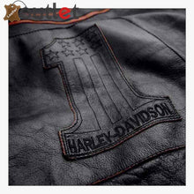 Load image into Gallery viewer, Harley-Davidson Men's Double Ton Slim Fit Leather Jacket