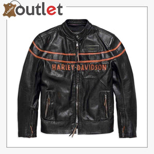 Harley-Davidson Men's Double Ton Slim Fit Leather Jacket
