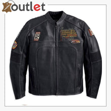 Load image into Gallery viewer, Harley Davidson Men's Regulator Perforated Black Leather Jacket