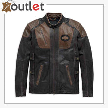 Load image into Gallery viewer, Harley-Davidson Men's Triple Vent System Trostel Leather Jacket