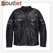 Load image into Gallery viewer, Harley-Davidson Men's Triple Vent System Wick Twister Leather Jacket
